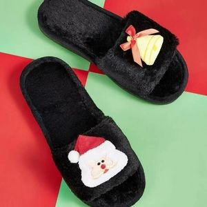 Fuzzy Christmas Slippers